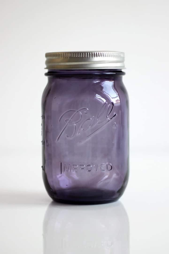 Ball Mason Jar Purple Lila 16oz Pint