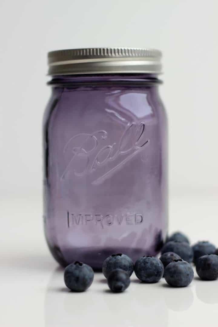 Ball Mason Jar 16oz lila Blueberries