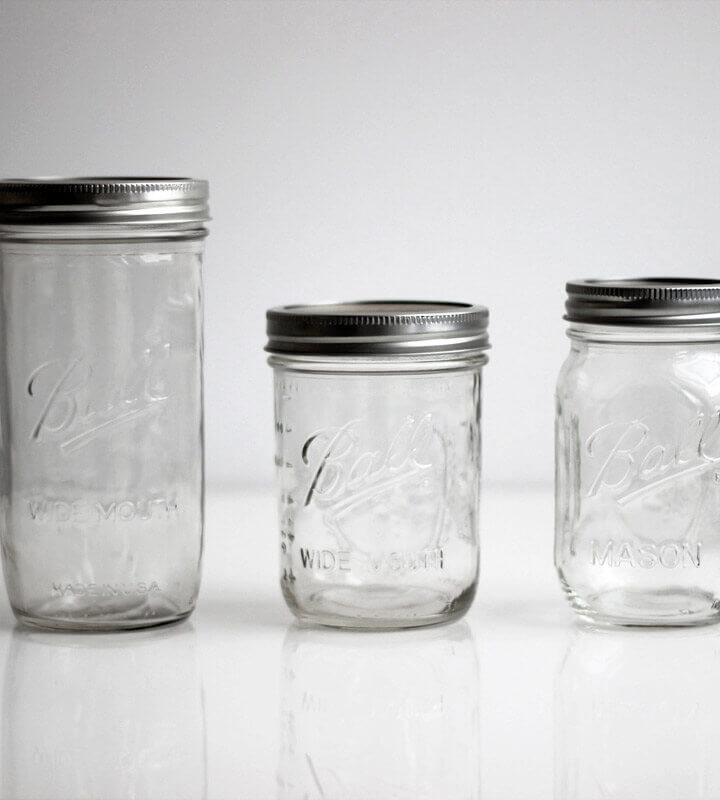 Ball Mason Jar 3er Set Clear All Sizes
