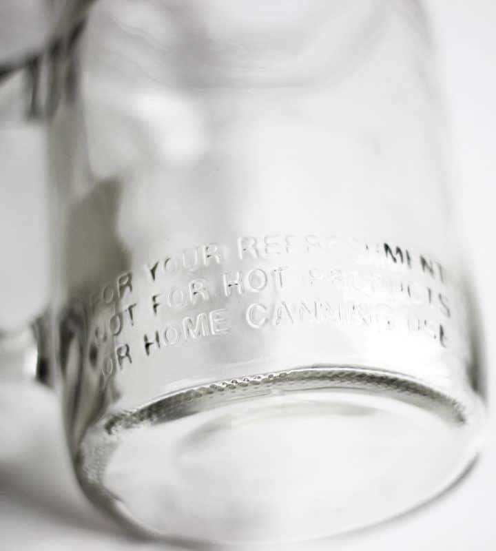 Prägung Vintage Glas von Ball