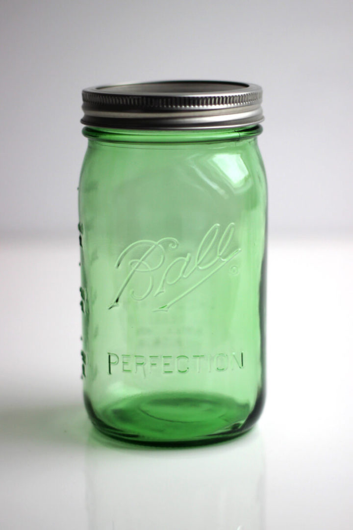 Ball Mason Jar green 32oz 1 Liter grün Perfection Heritage