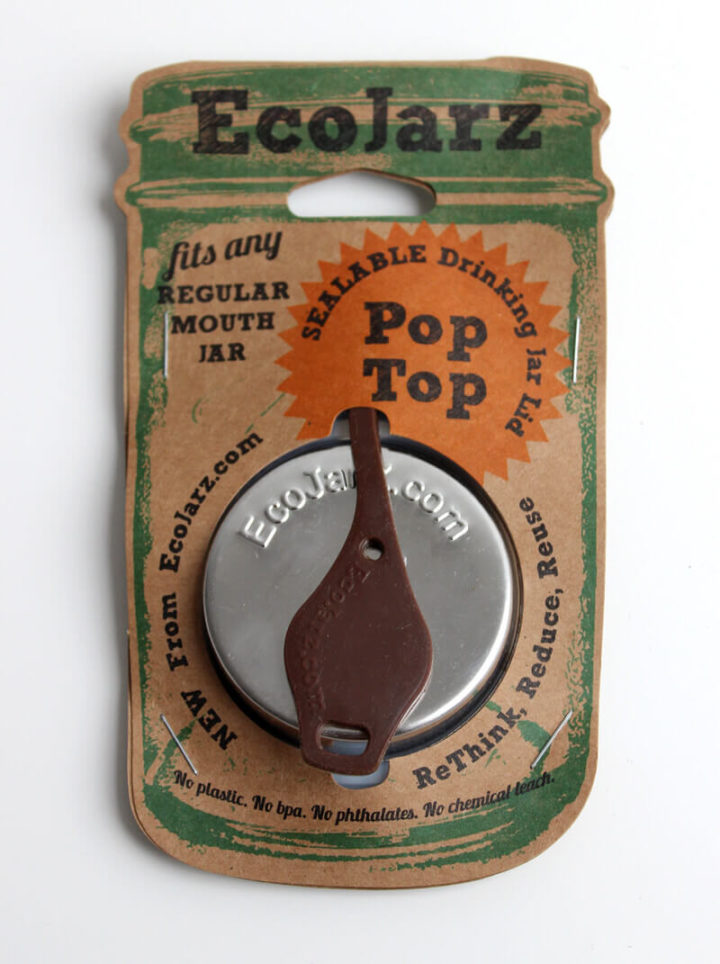 EcoJarz Poptop Lid Deckel für Regular Mouth in Braun