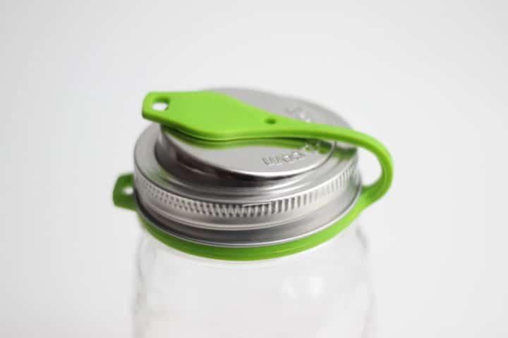 EcoJarz Poptop Deckel in Grün für Regular Mouth Jars
