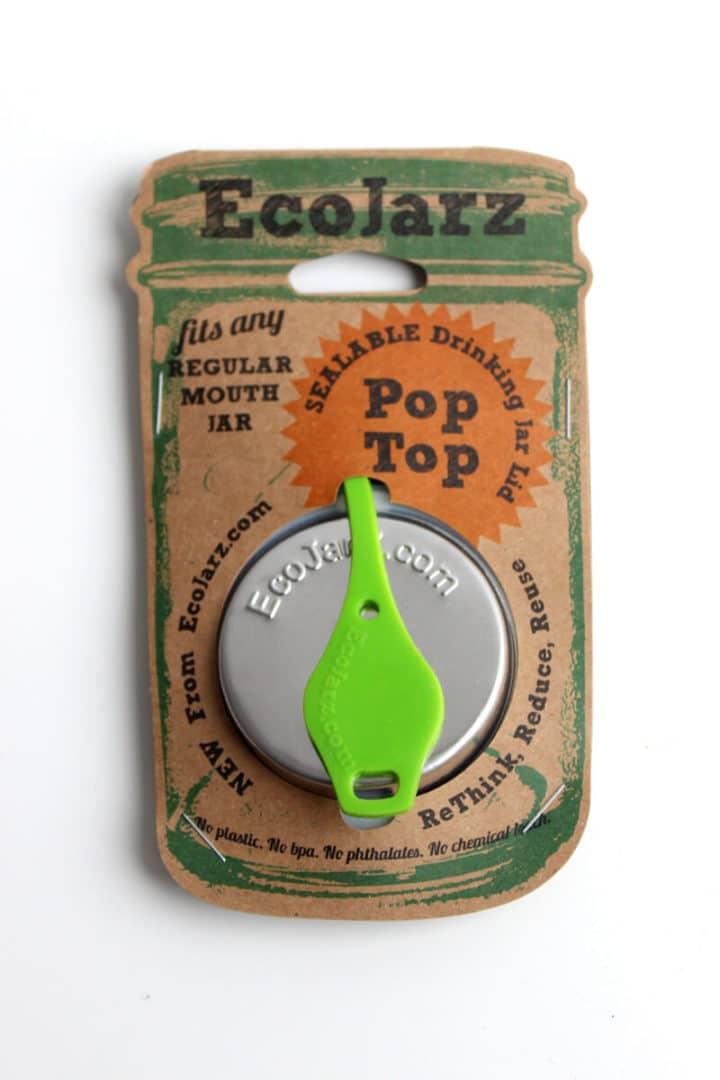 EcoJarz PopTop Regular grün Lid Deckel green Regular Mouth