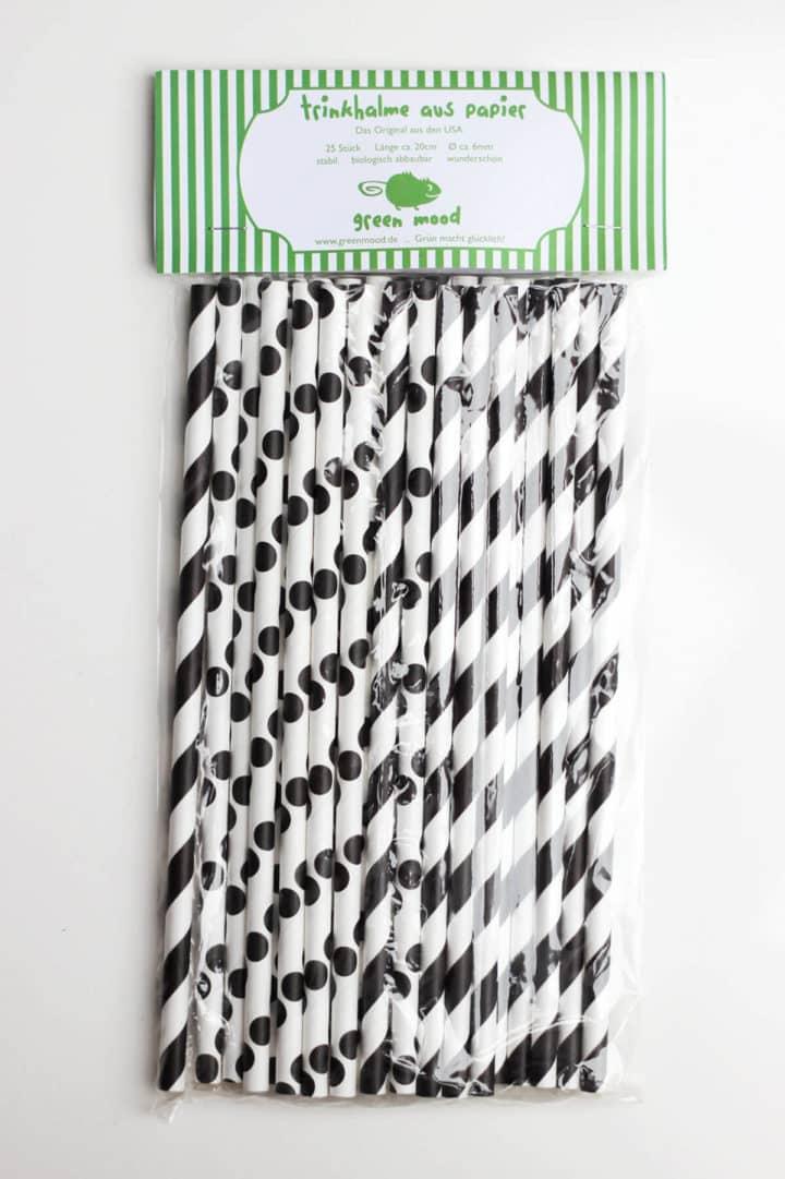 Papierstrohhalme Papiertrinkhalme im Schwarzen Farbmix