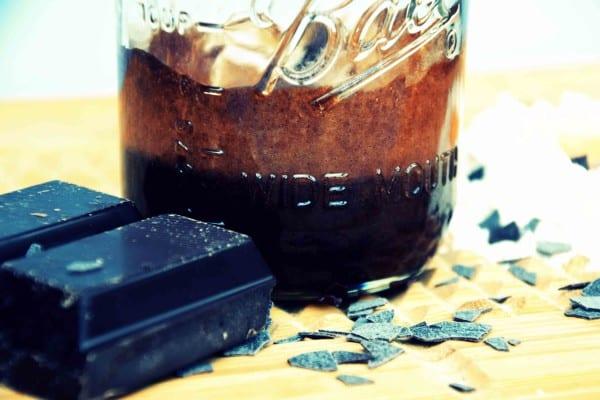 Kuchen im Einmachglas Schoko
