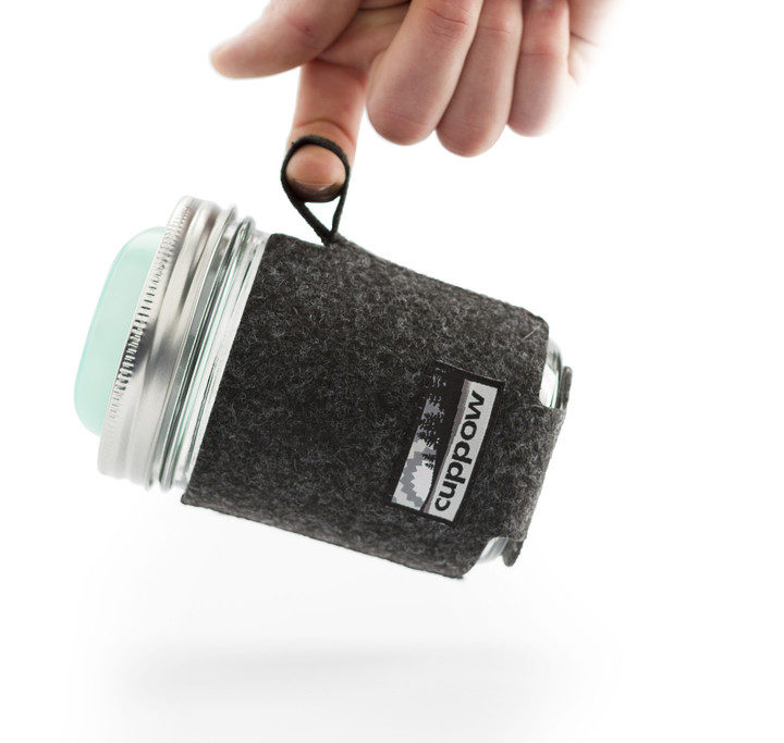 Cuppow Jar Coozie in Grey