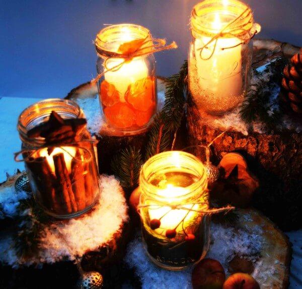 Weihnachtskerzenglas