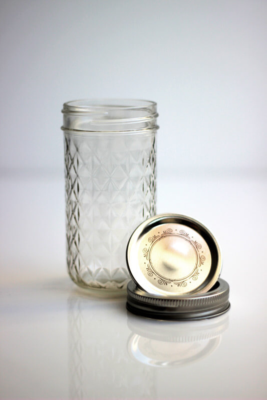 Quilted Mason Jar mit Deckel in 12oz