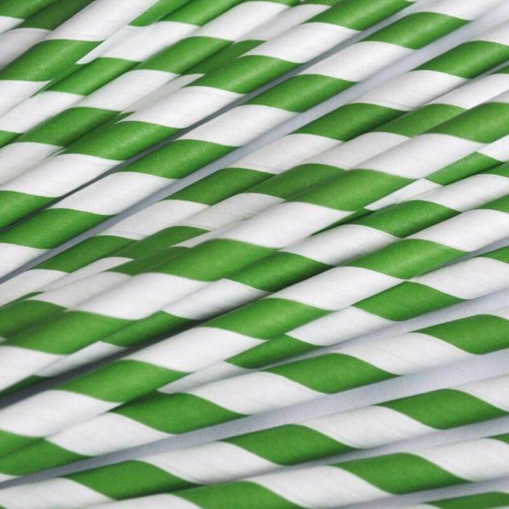 Trinkhalme grün schräg