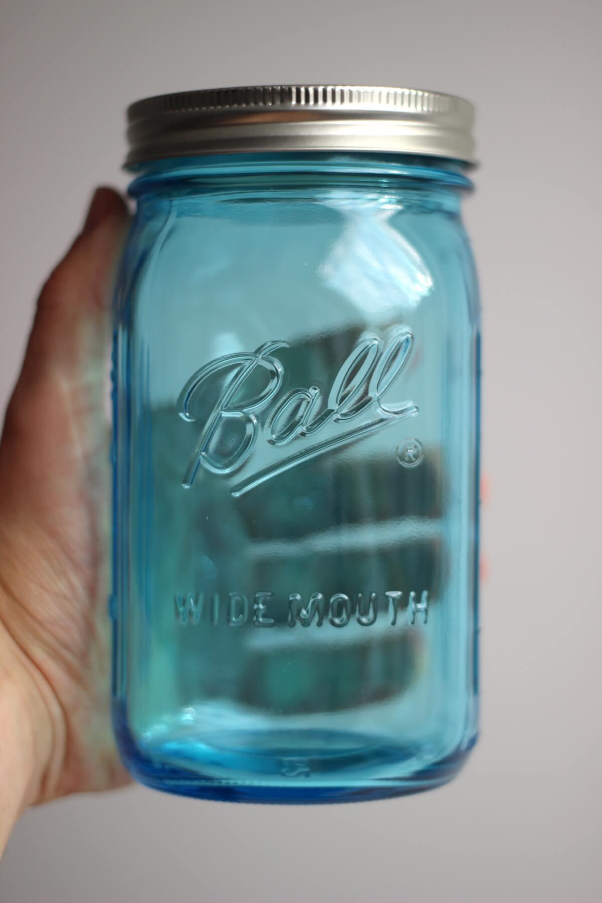 Elite Ball Mason Jar Limited Edition 32oz Blau