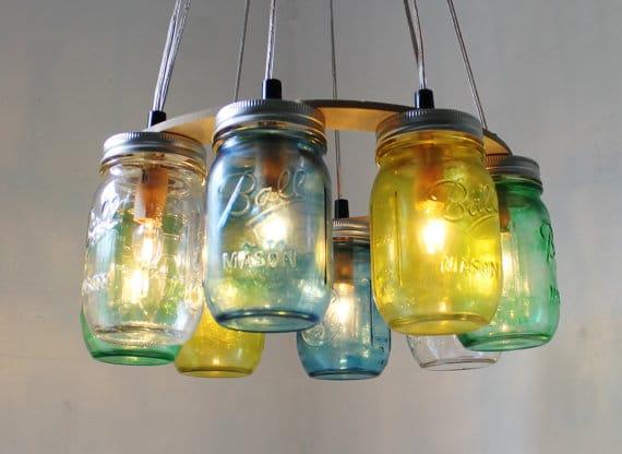 diy mason jar lampe