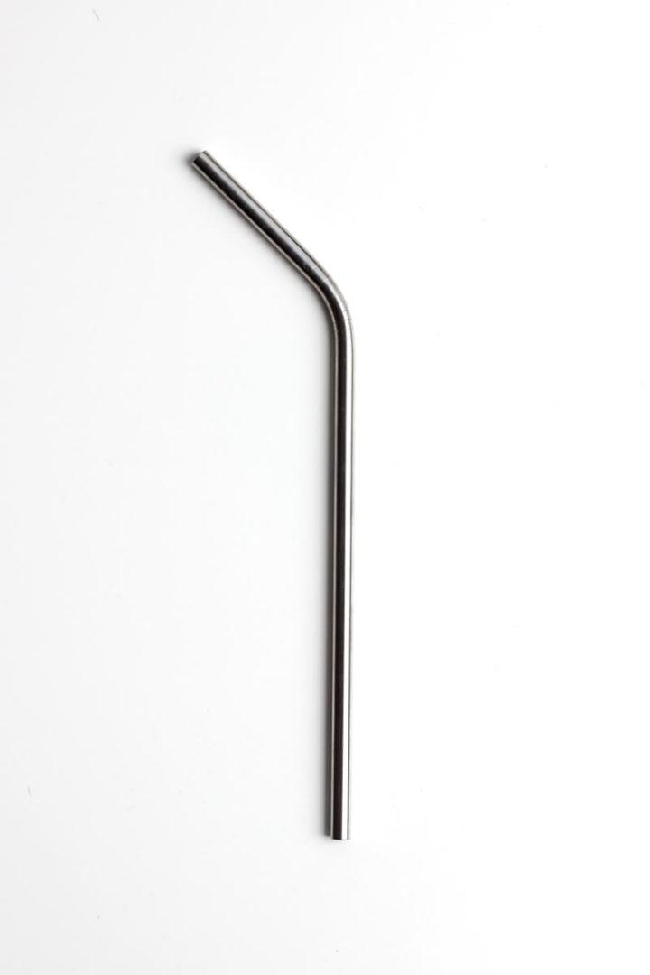 gebogene Edelstahl Strohhalme Stahl