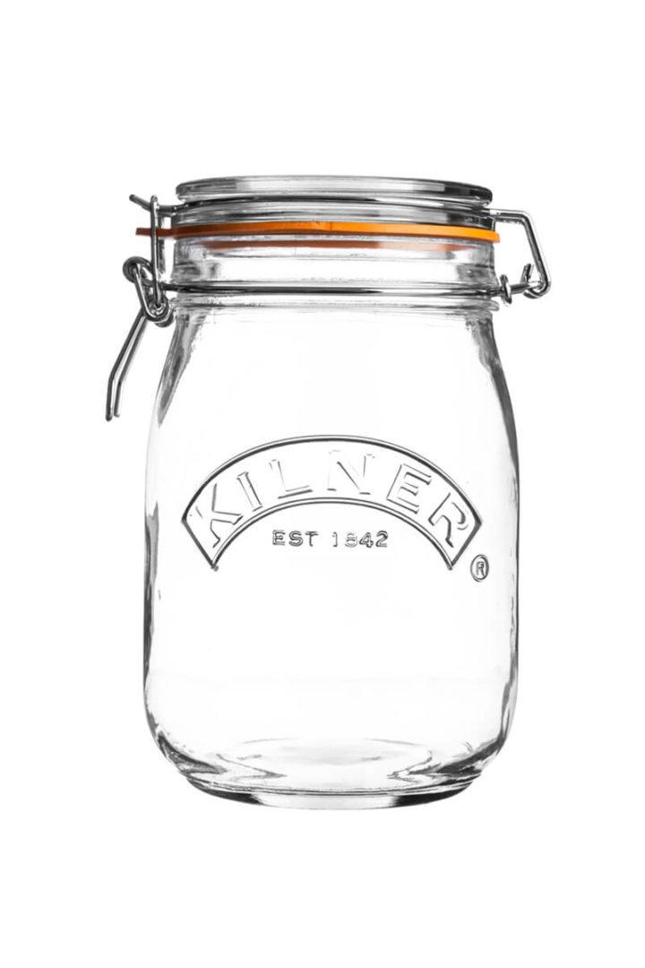 1 Liter Aufbewahrung Einmachglas mit Bügelverschluss