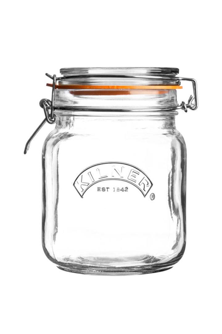 Kilner Square Clip Top Jar 1 Liter
