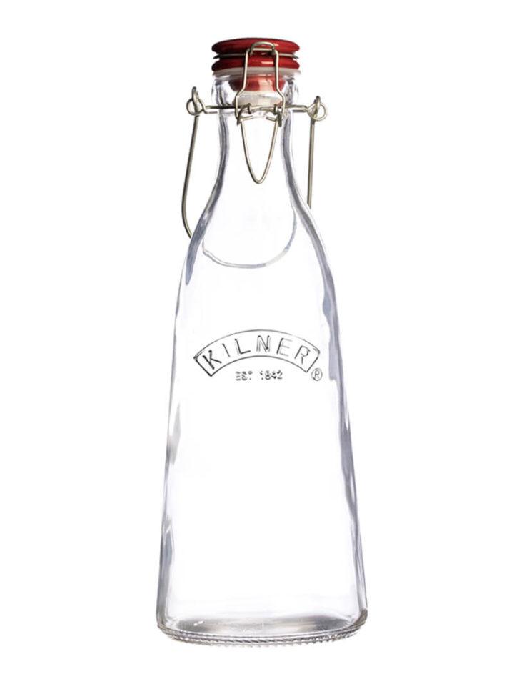 1Liter Wasserflasche mit Bügelverschluss Vintage Optik
