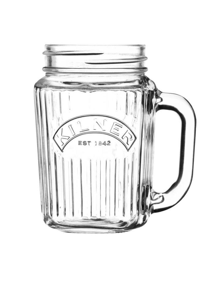 Britisches Einmachglas mit Henkel Mason Jar 400ml Henkelgläser oder Henkelbecher