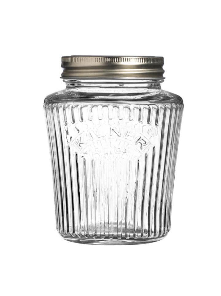 Aufbewahrungsglas mit Schraubdeckel Kilner Prägung Einweckglas 0,5 Liter