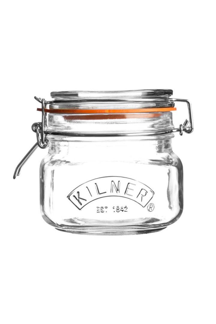 eckigen Kilner Glas mit Bügelverschluss 500ml