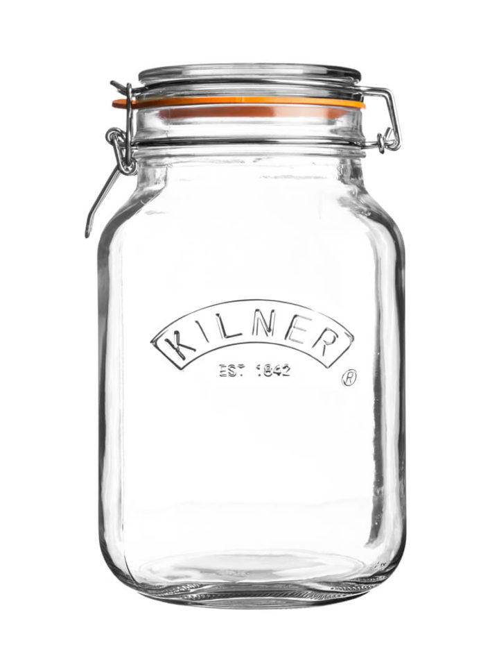 großes Kilner Square Clip Top Jar Einmachglas Jar Drahtbuegelverschluss 1,5l