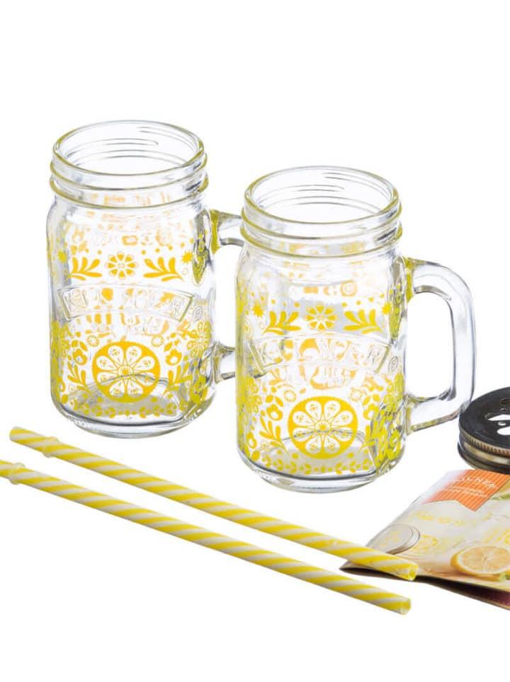 Kilner Limonade Set Geschenkset gelb