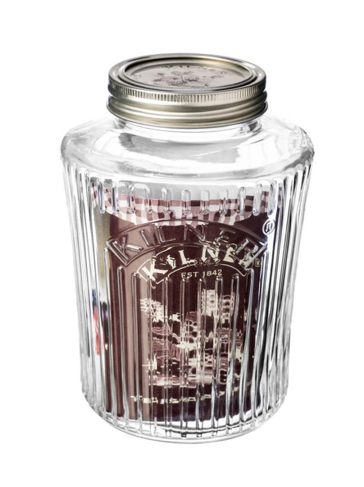 Vintage Aufbwahrungsglas Kilner 1 Einweckglas 1 Liter Preserve Jar
