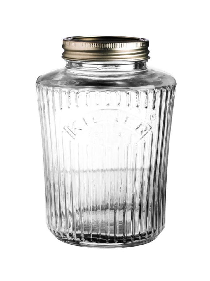 Kilner Einweckglas 1 Liter Aufbewahrungsglas Drehverschluss Preserve Jar