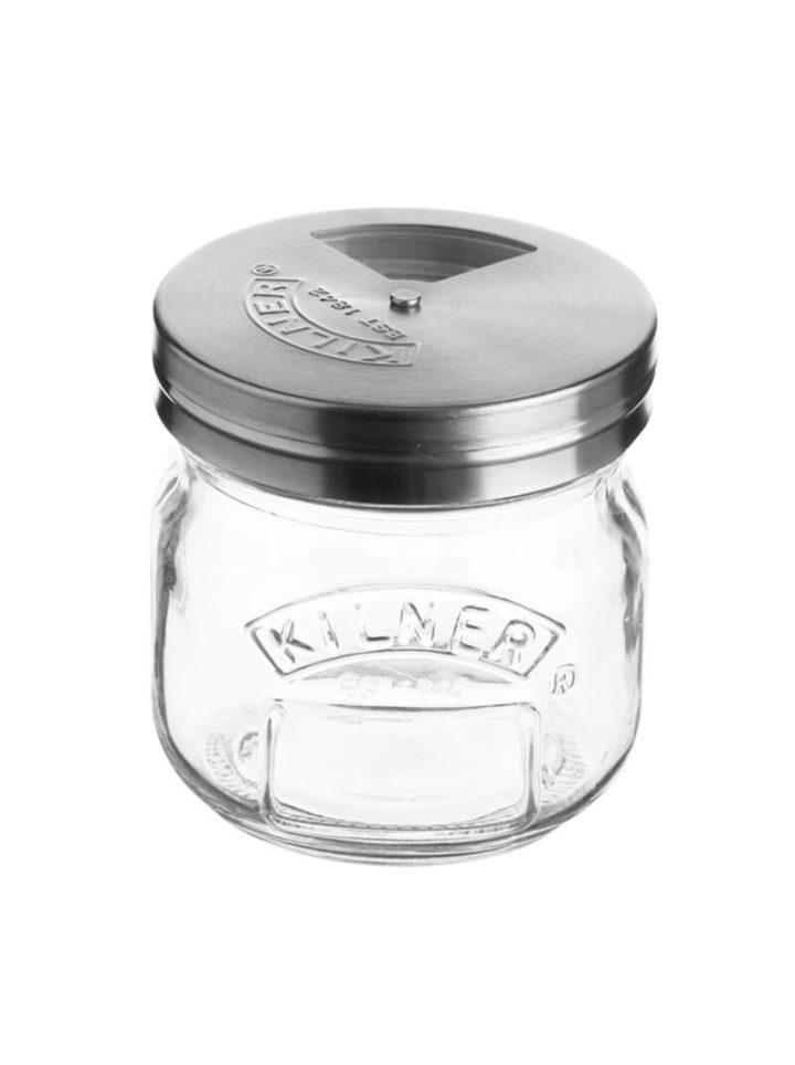 Salzstreuer Gewuerzstreuer Glas Set Jar 250ml