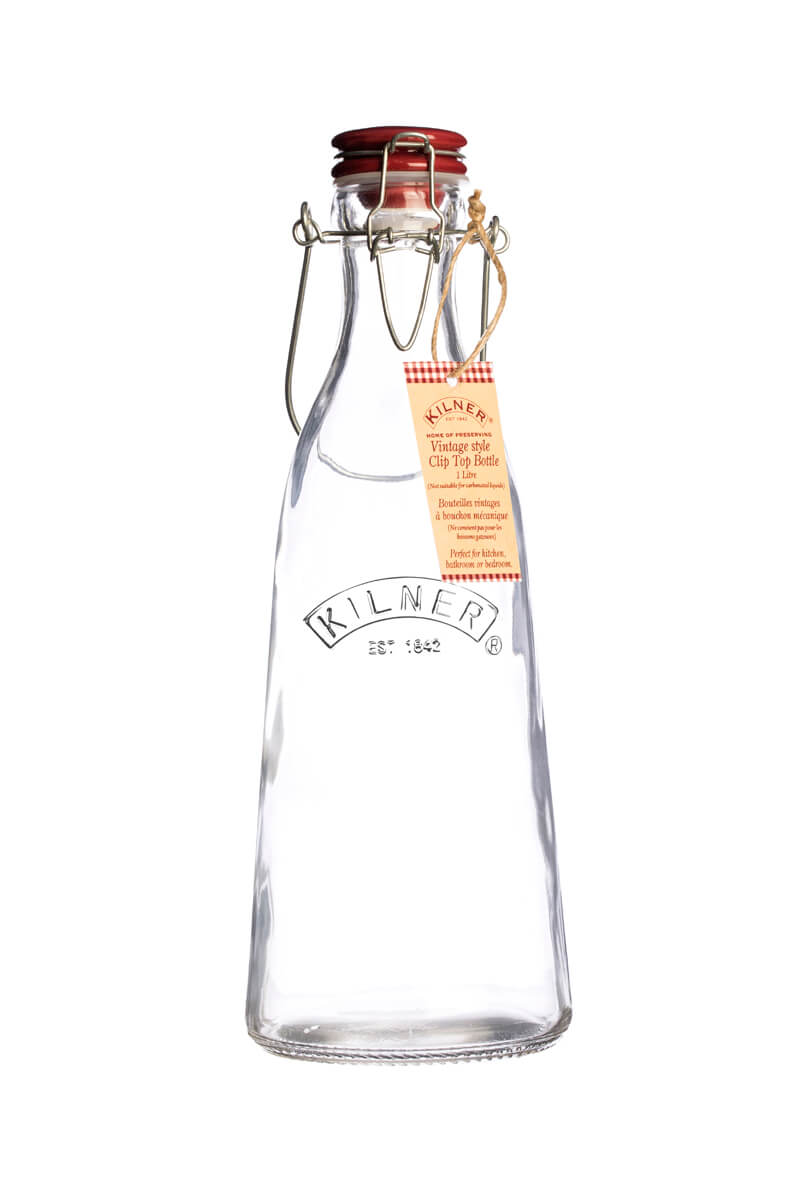 Kilner Wasserflasche Glas 1 Liter Vintage Glasflasche Mit