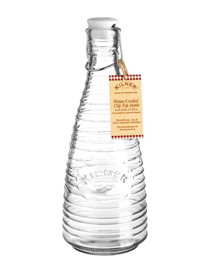 Tisch Wasserflasche Pure Glasflasche 850ml mit Bügelverschluss