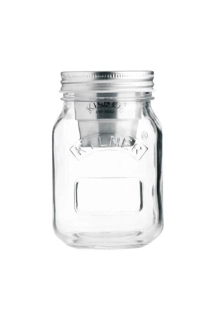 Müslibecher To Go Snack on the go Glas von Kilner Jar 500ml