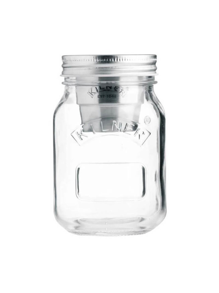 Müslibecher To Go Snack on the go Glas von Kilner Jar 500ml