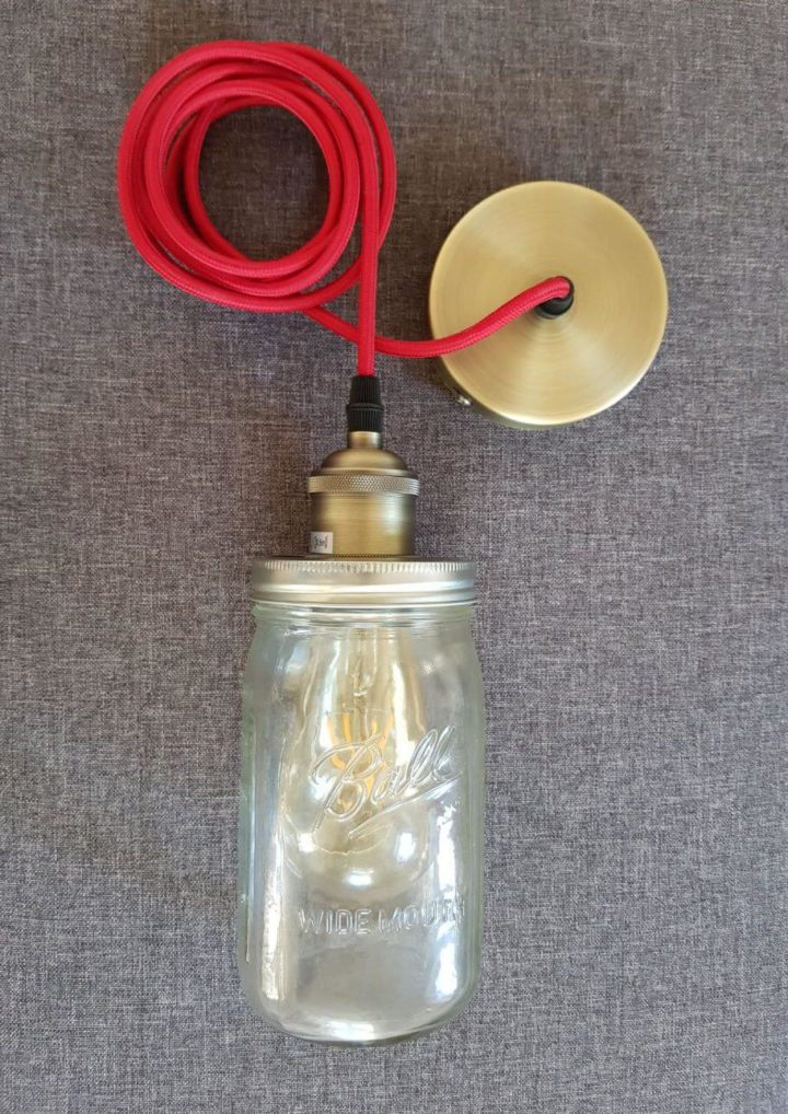 Ball Mason Vintage Lampe zusammengebaut