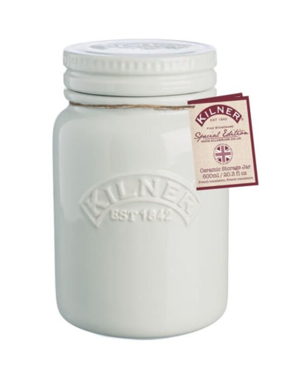 Keramik Storage Jar Moonlight Grey mit Label