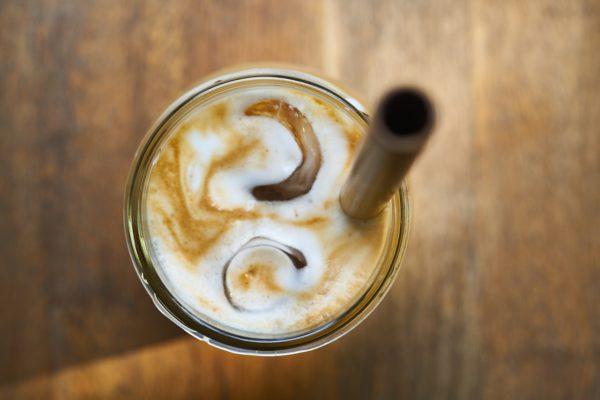 Cold Brew Coffee Glas von oben