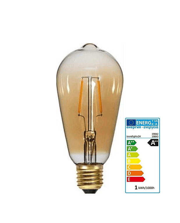 Edison LED Bild mit Energielabel