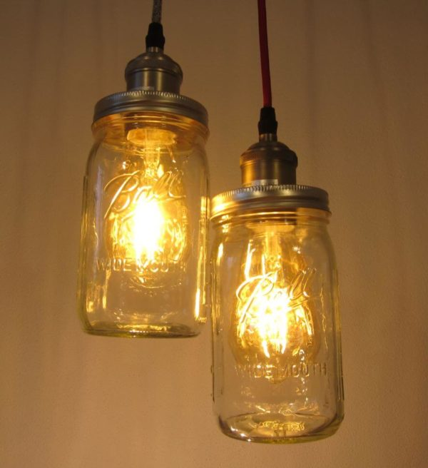 Mason Jar Lampe Ball Mason Vintage Lampe mit Schlummerbeleuchtung
