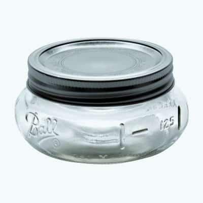 Ball Mason Jar Elite Wide Mouth 8oz Superflaches Glas andere Perspektive