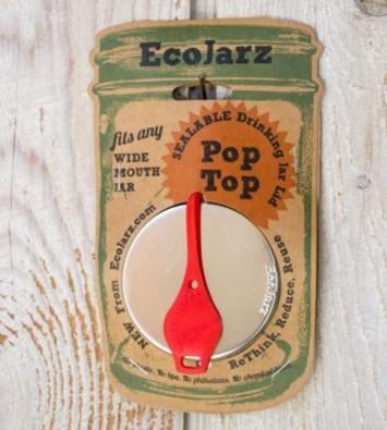 EcoJarz PopTop Trinkdeckel Coral Farbe für Wide Mouth
