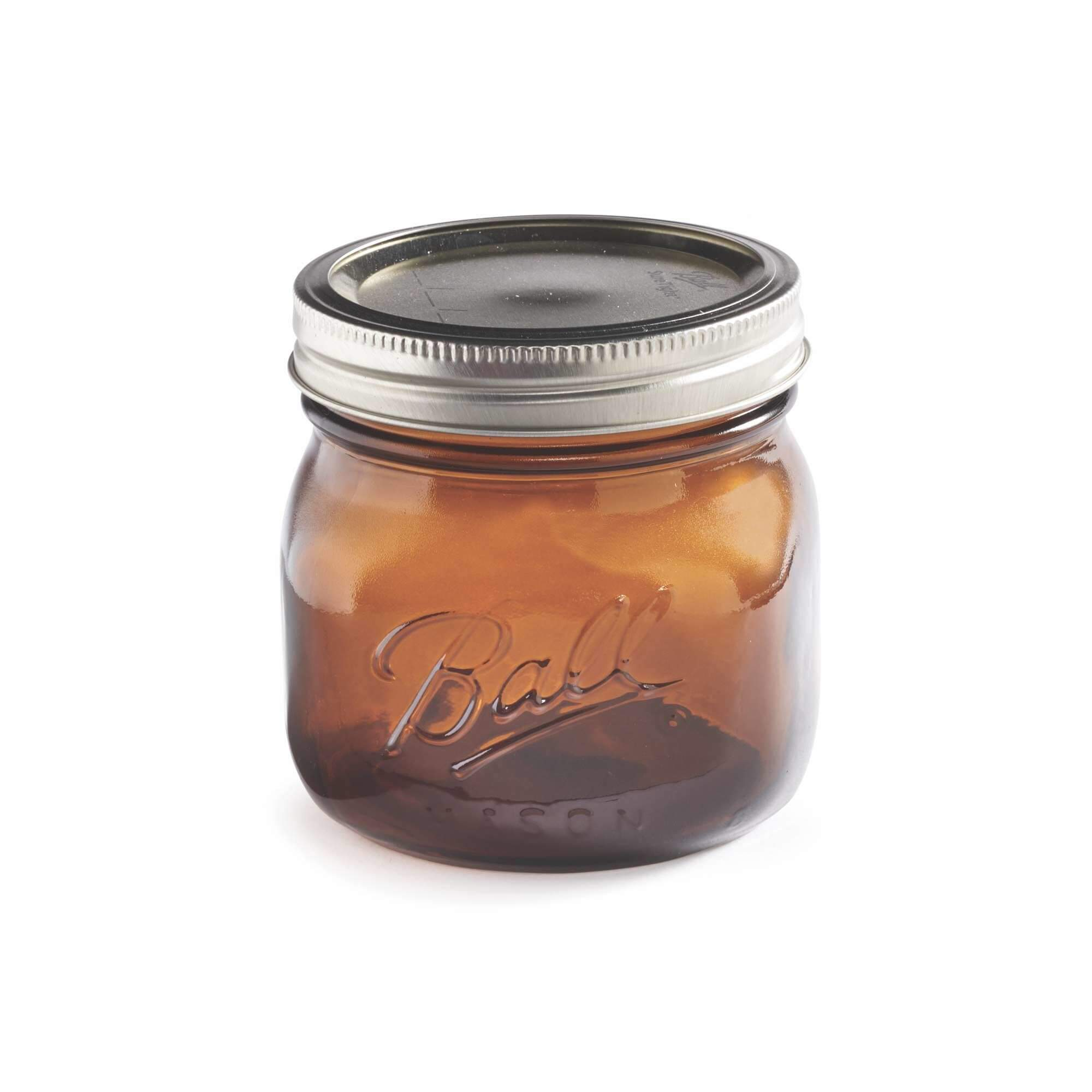 Ball Mason Glas Amber Elite Jar Wide Mouth Pint in Farbe Amber