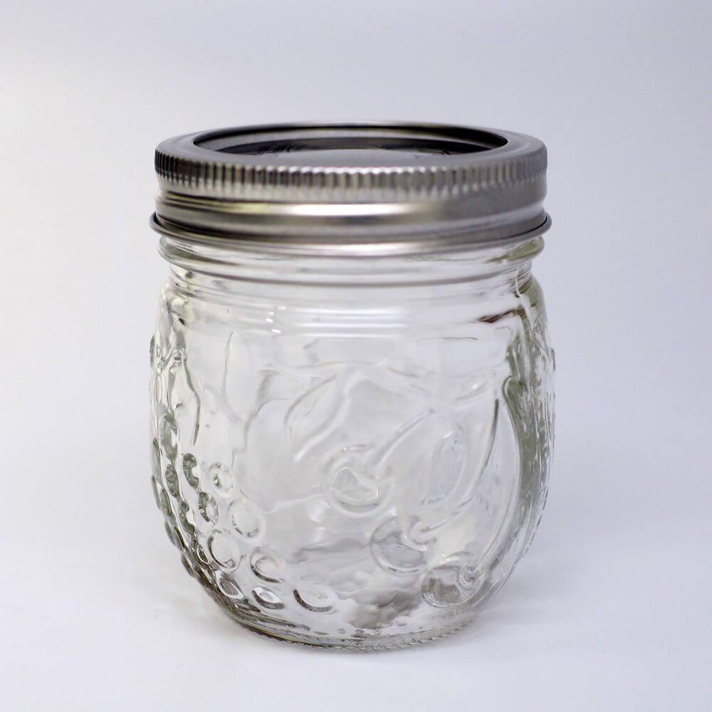 Anderer Blick auf das schöne 8oz Glas für Marmelade