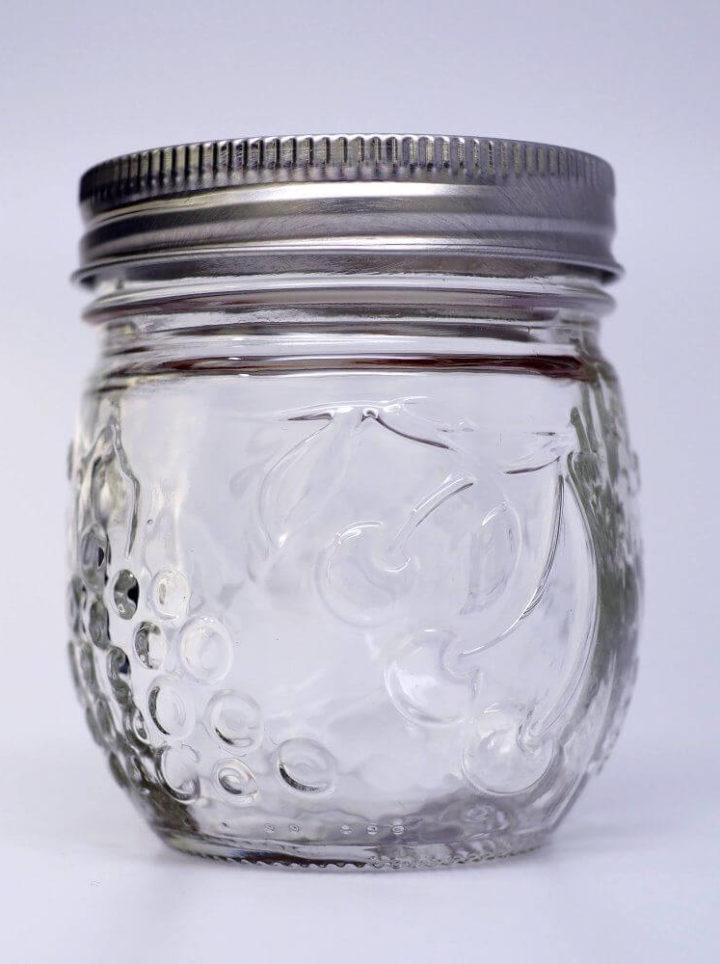 Schönes 8oz Glas für Erdbeermarmelade oder andere Marmelade
