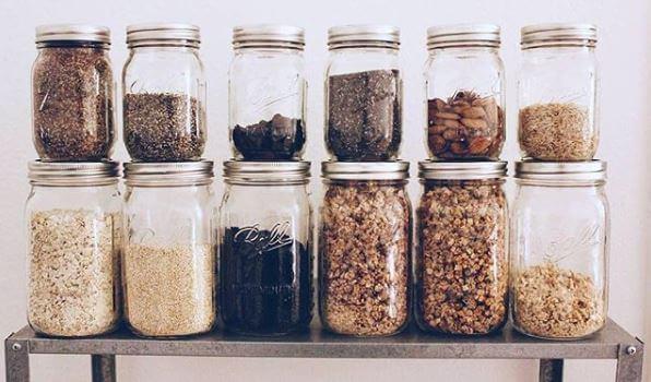 Ball Mason als Storage Gläser für Saaten, Haferflocken und Granloa Vorratsglas, Aufbewahrungsglas, Glas mit Deckel oder Vorratsdose