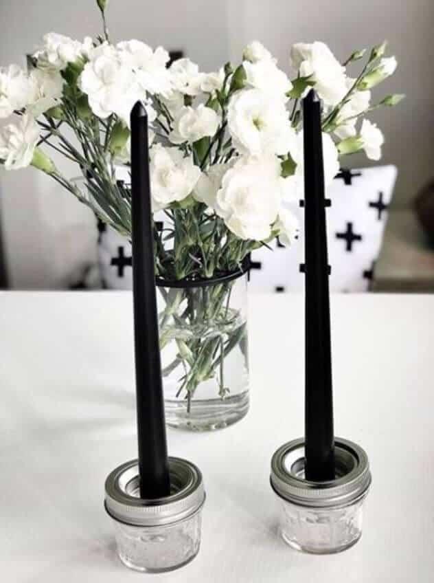 Ball Mason 4oz als Kerzenständer Aufbewahrungsglas oder Vorratsglas, Aufbewahrungsglas, Glas mit Deckel oder Vorratsdose