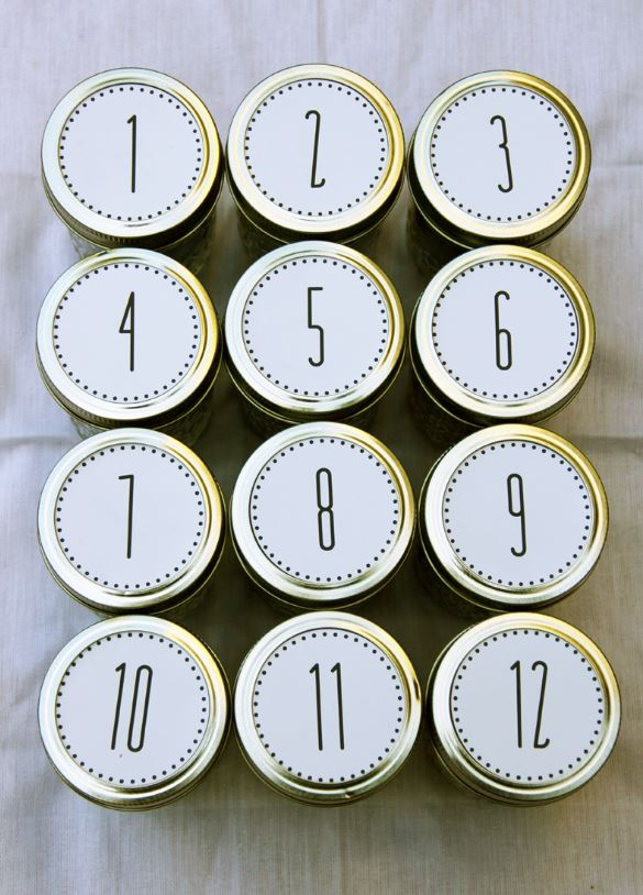 Adventskalender DIY 1 bis 12