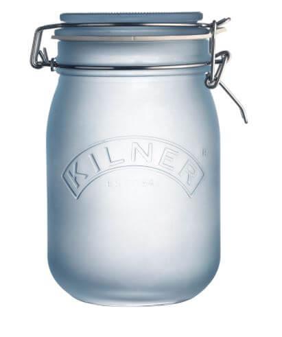 blau farbiges Einmachglas von Kilner
