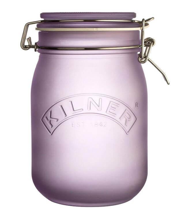 violett farbiges Einmachglas