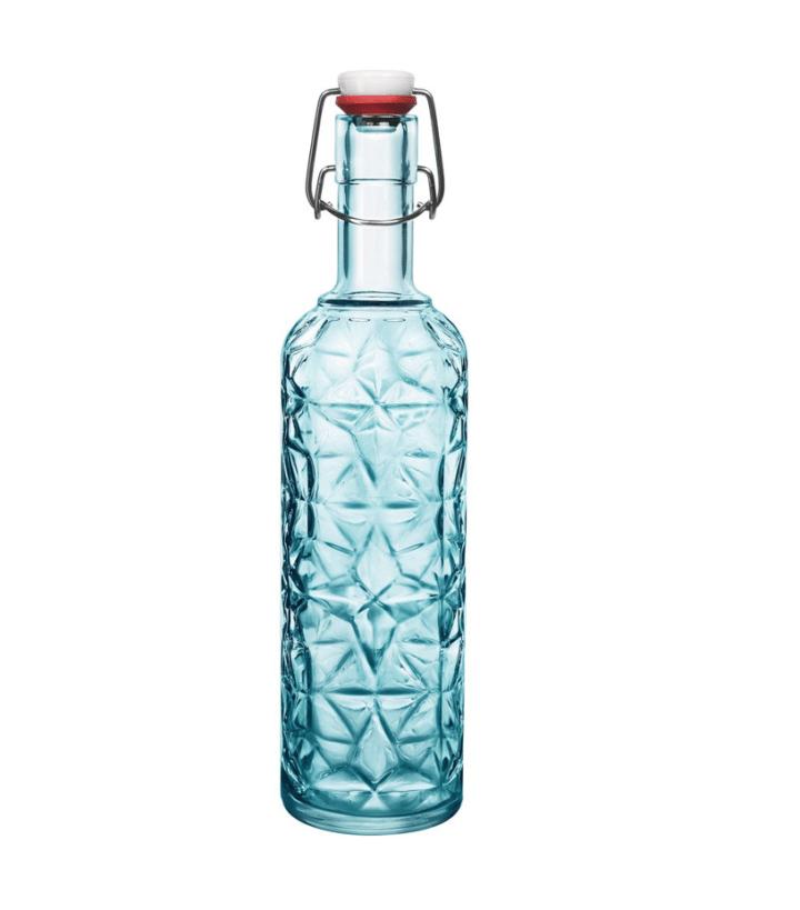 Flasche Kristall Blau